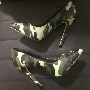 Army fatigue heels